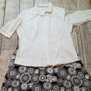 Skirt and top. Super cute outfit